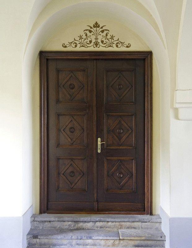 Renaissance door crown classic panel stencil puertas de for Puertas coloniales antiguas