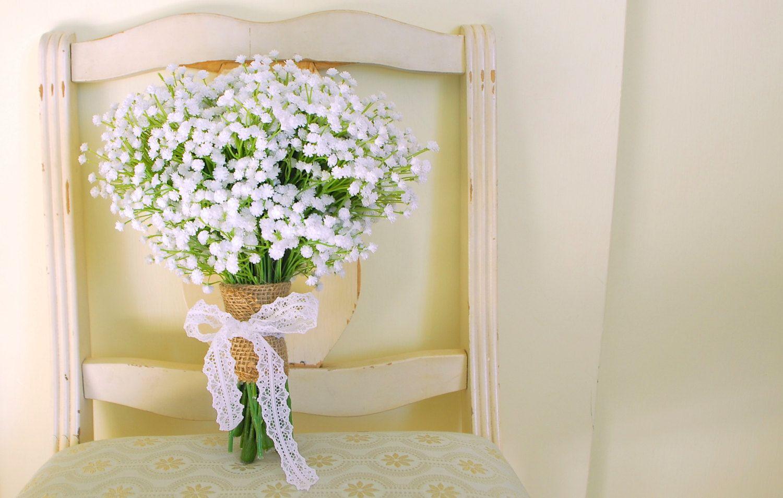 Popular items for bridesmaids bouquet on etsy wedding ideas babys breath bouquet gorgeous artificial babys breath gypsophelium bouquet on etsy izmirmasajfo