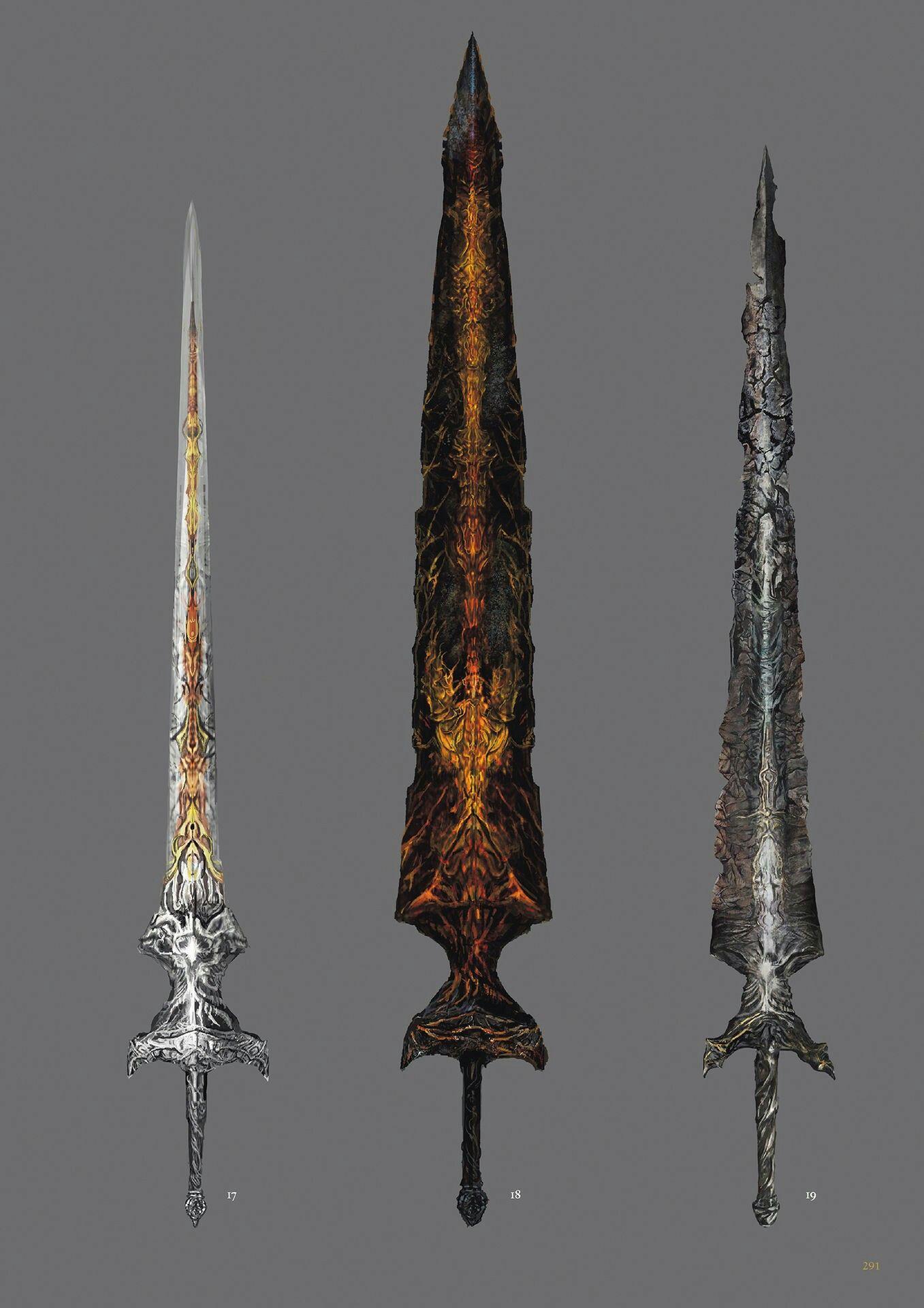Dark Souls 3 Concept Art - Weapon Concept Art   Videogame Art