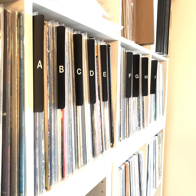 Az black alphabetical record dividerscards 12inch 33rpm