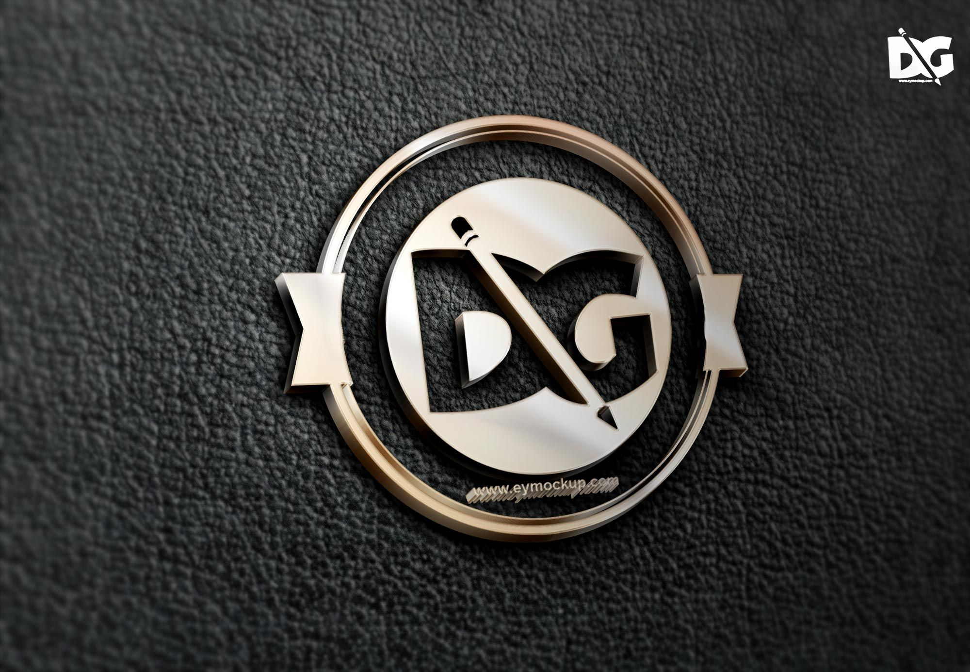 Free Leather 3d Effect Logo Mock Up 3deffectmock Up 3dlogomock Up Branding Downloadpsd Freepsd Logomo Logo Design Mockup Free Logo Mockup Mockup Free Psd