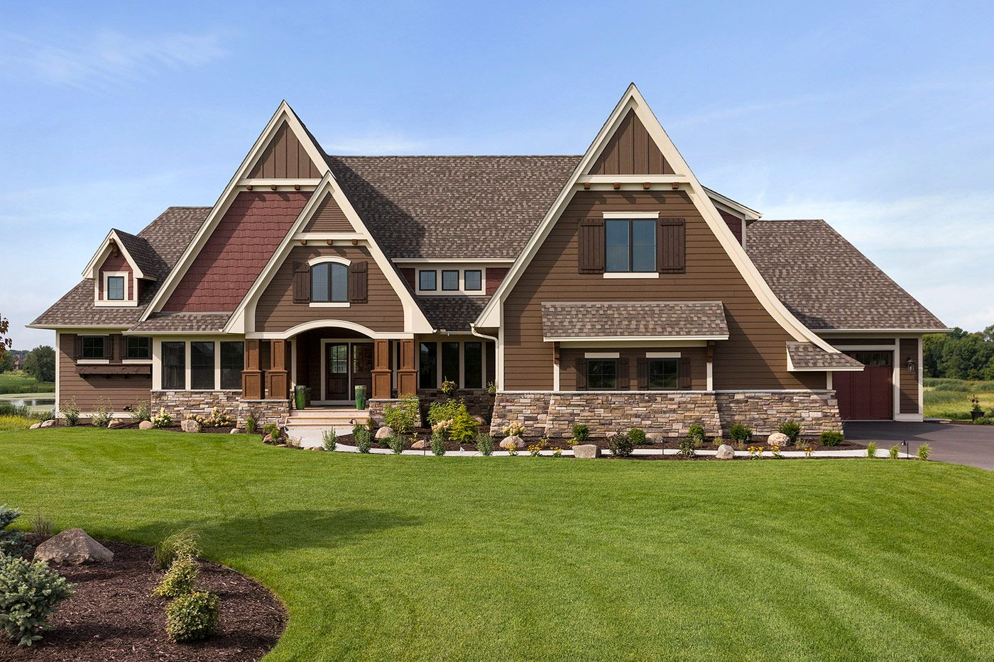 Custom Home Exteriors Custom Home Builders New Home Communities In Lakeville And Minneapolis Mn Custom Homes House Exterior Home Builders
