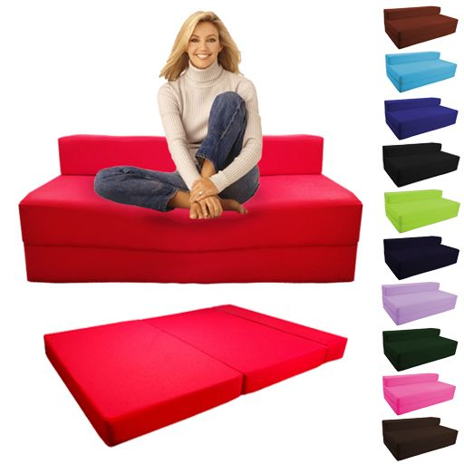 Fold Out Foam Double Guest Z Bed Chair Folding Mattress Sofa Bed Futon  Sofabed | EBay