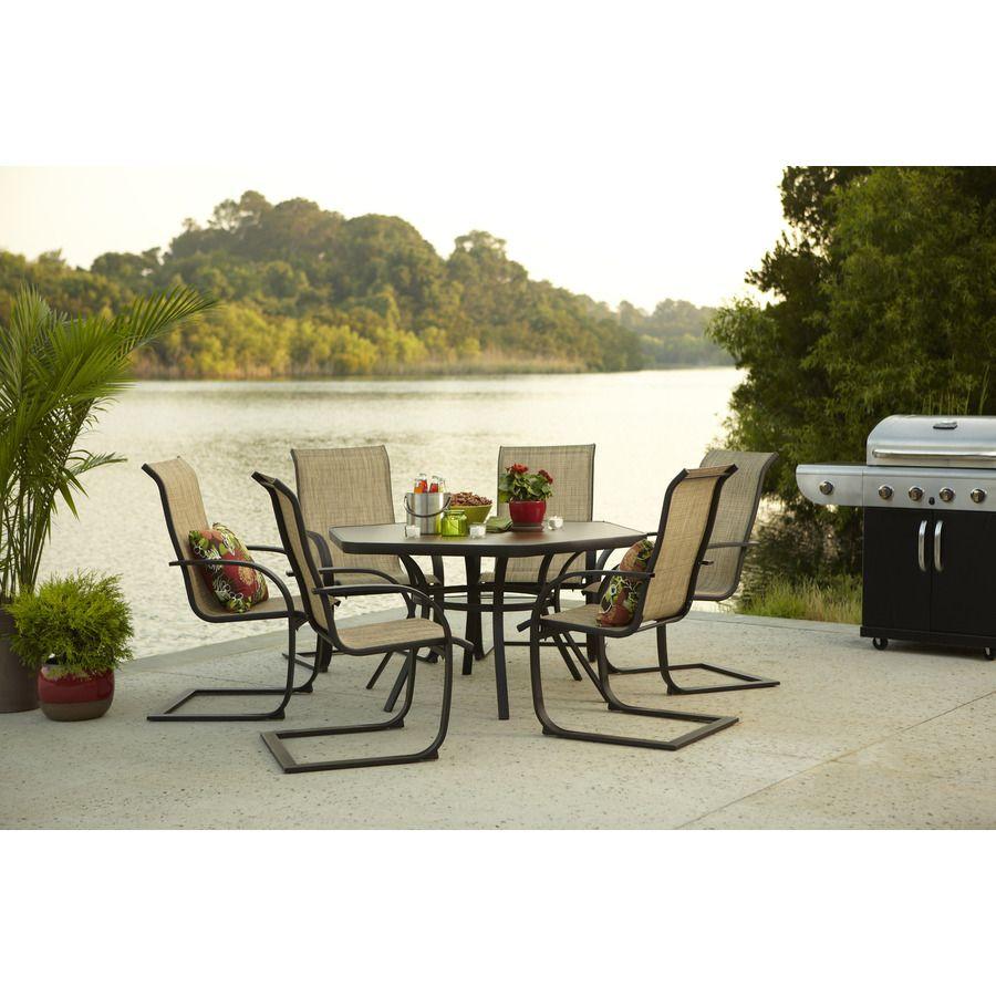 Shop Garden Treasures Set Of 6 Hayden Island Steel Patio Dining Chairs At  Lowes.com