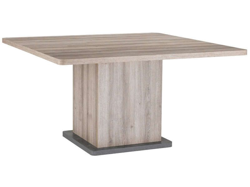 Table carr e landen vente de table de cuisine for Chemin de table conforama