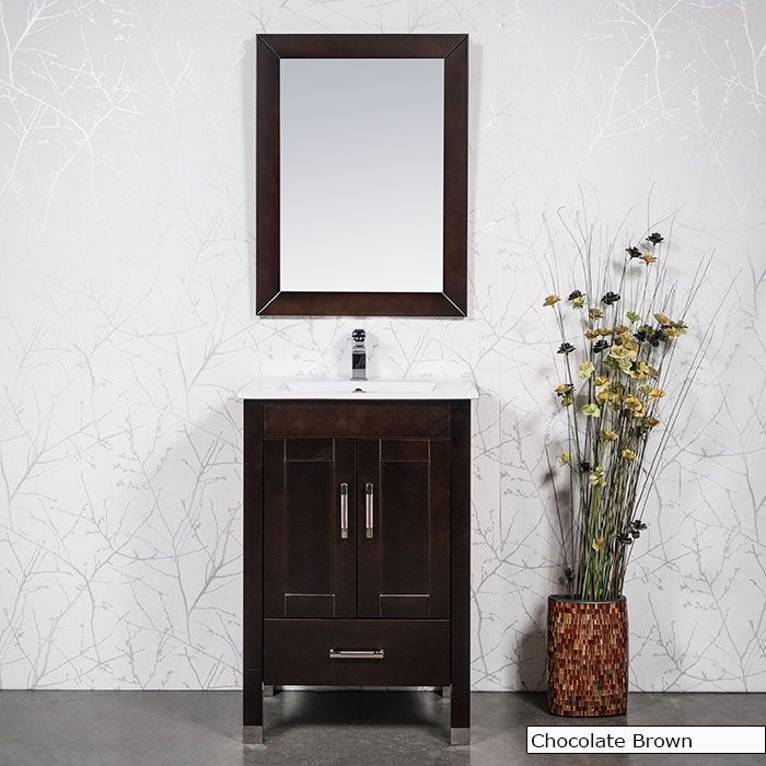 3124 - Small 24'' bath cabinet with integral sink ...
