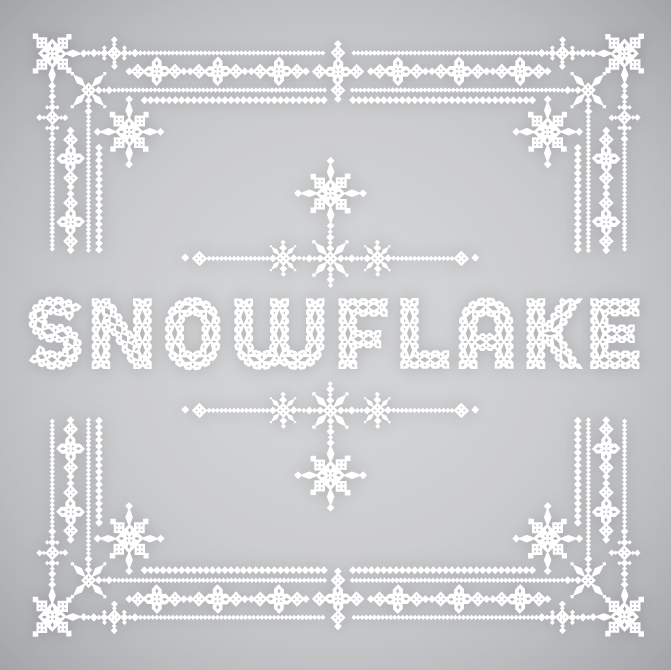 Snowflake Font Paper Games Pinterest Fonts Typography And