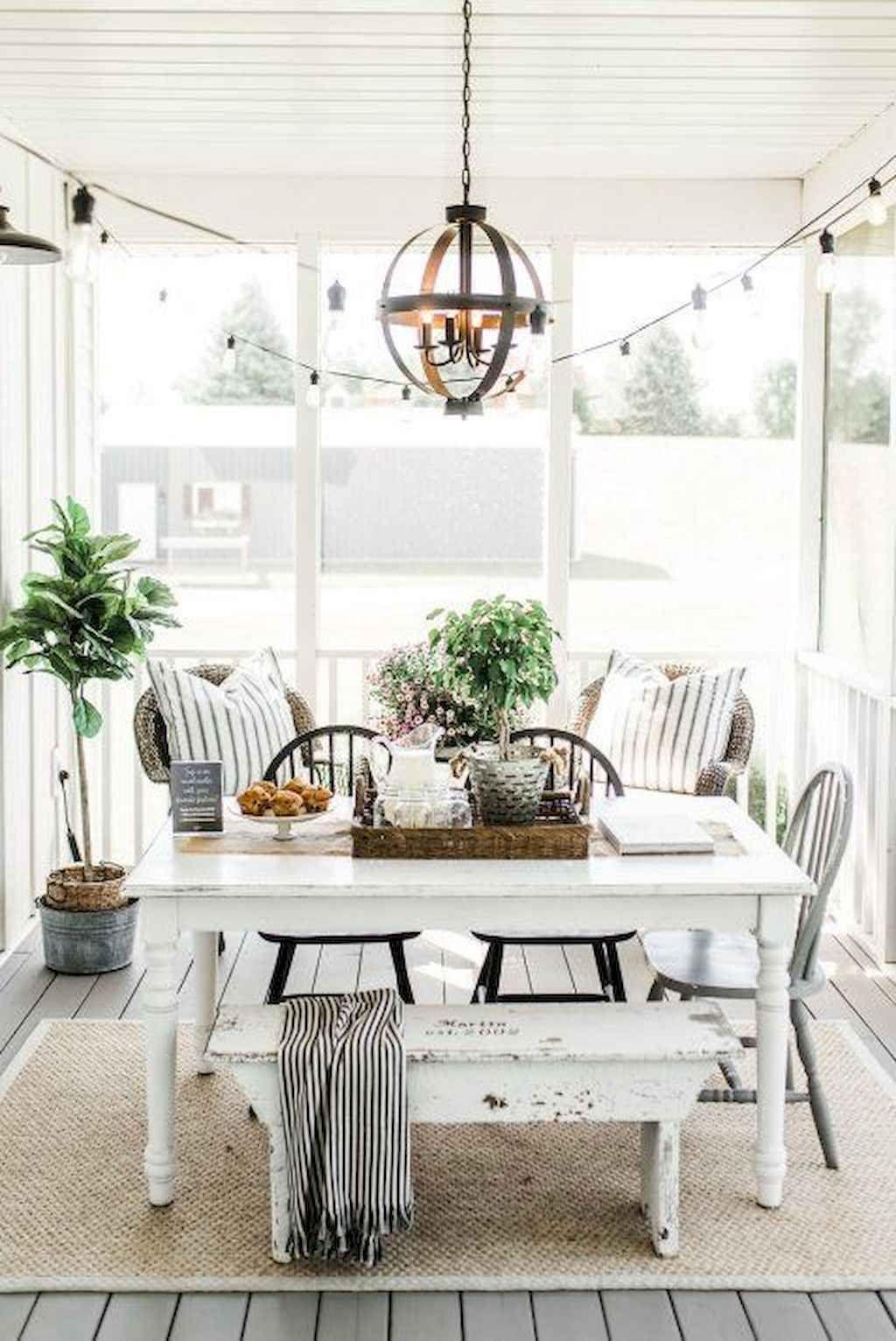 55 Cozy Modern Farmhouse Sunroom Decor Ideas images