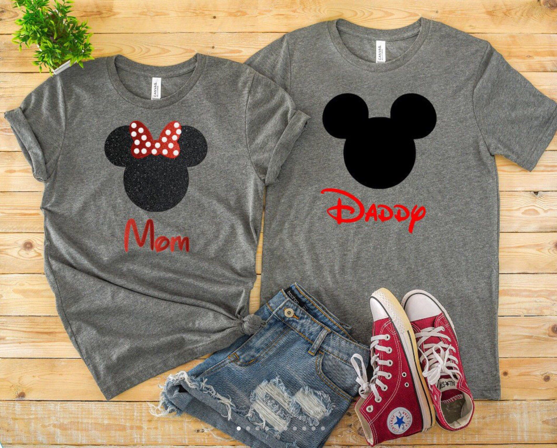 8de3839fd Excited to share the latest addition to my #etsy shop: Mickey and Minnie  Matching Disney Shirts #clothing #shirt #disney #disneycruise #shirts # custom ...