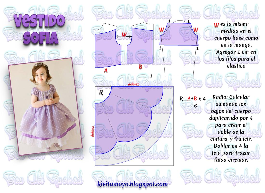 KiVita MoYo : VESTIDO DE SOFIA | Niños | Pinterest | Baby dress ...