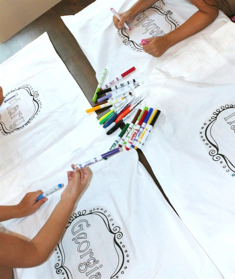 Coloring Pillowcases
