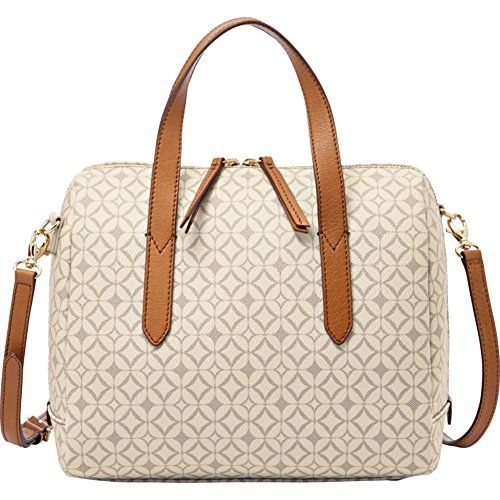 The Fossil Sydney Signature Satchel At Ebags With An Allover Print This Structured Blends Classic Styling Modern Details