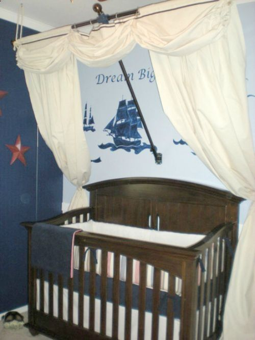 Out To Sea Ship Crib Canopy I Could Totally Make This Disney