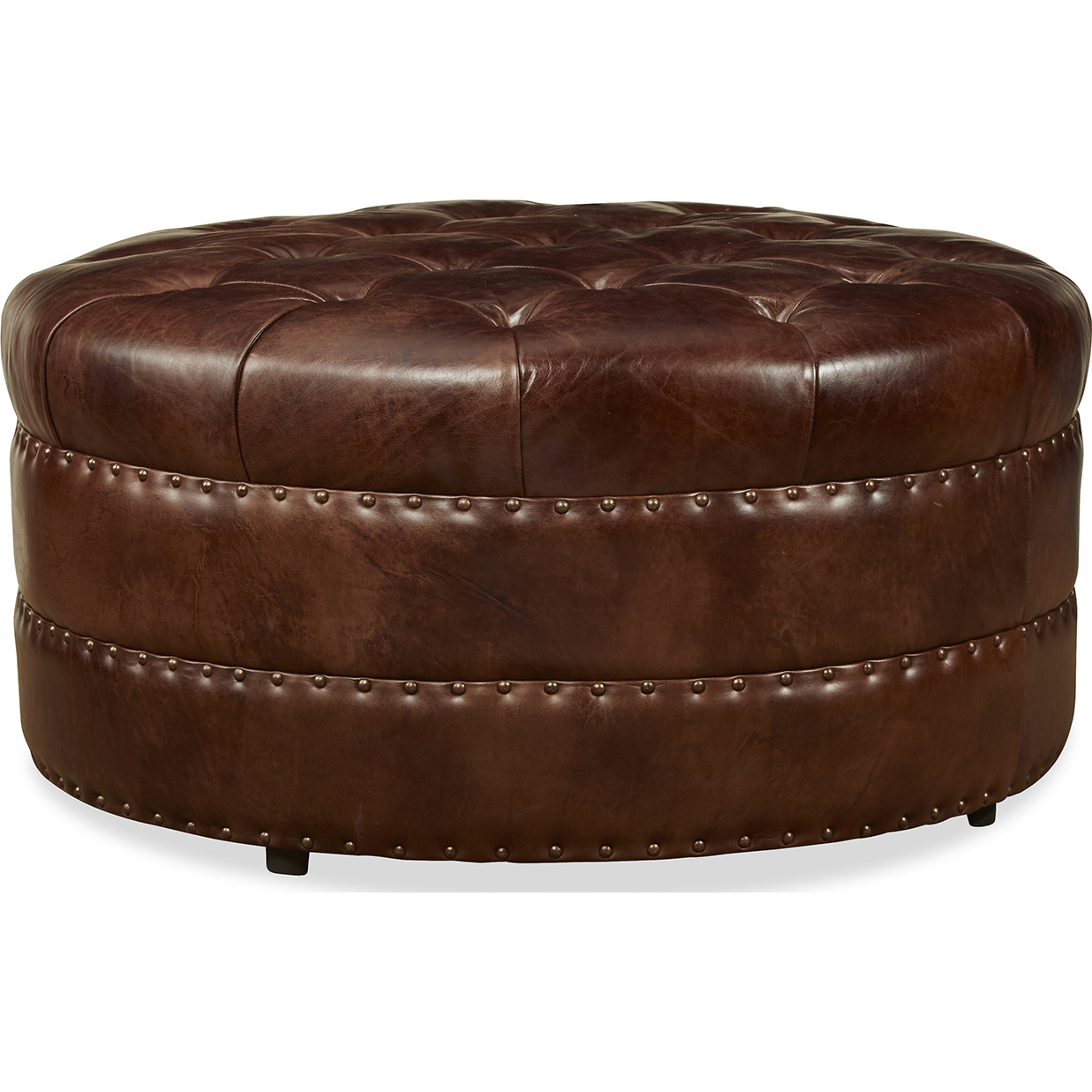 Wondrous Spectra Hudson Cocktail Ottoman Tufted Chocolate Brown Top Theyellowbook Wood Chair Design Ideas Theyellowbookinfo