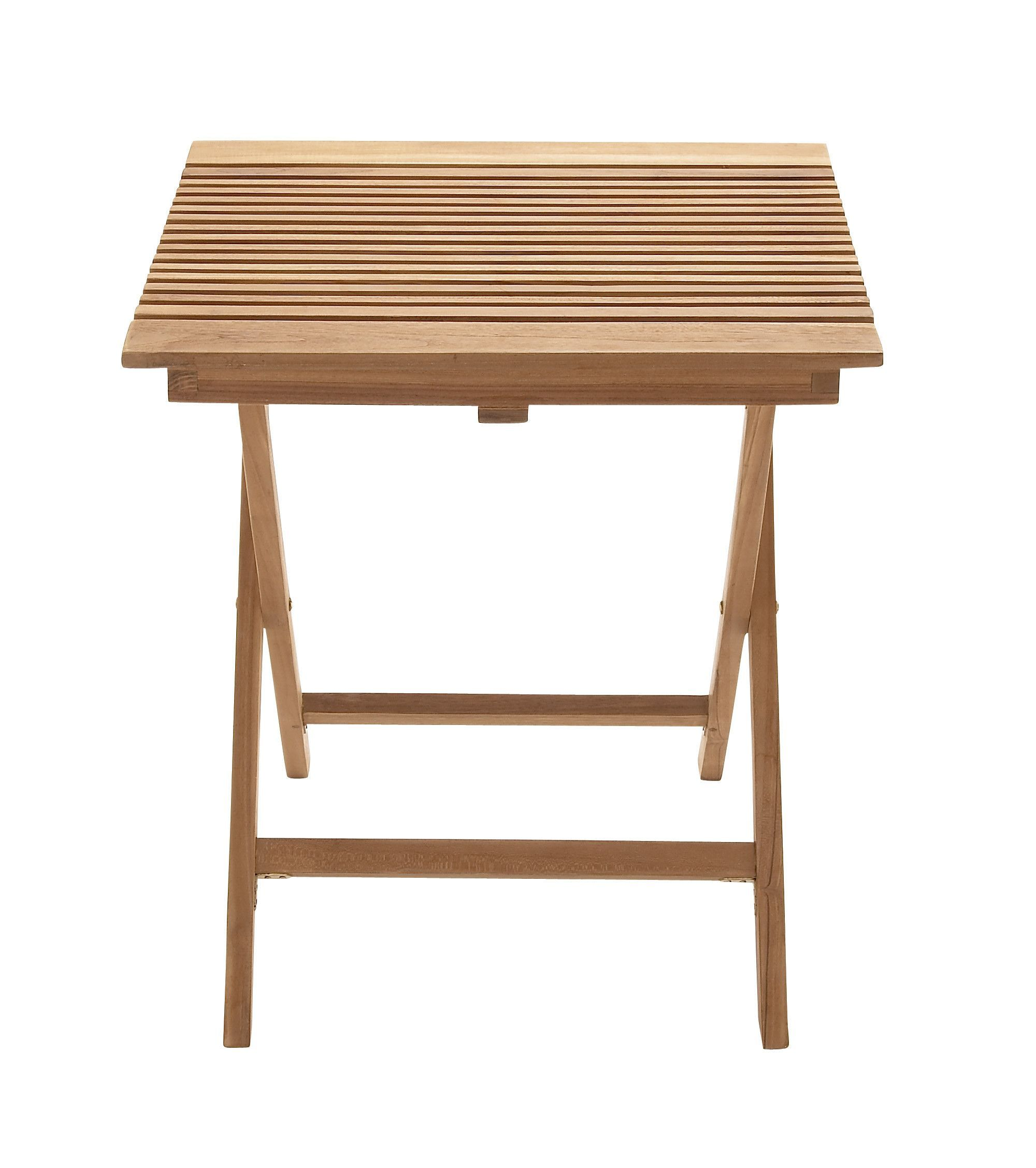 Portable And Useful Wood Teak Folding Table. To Make Optimum Use Of The  Spare Space