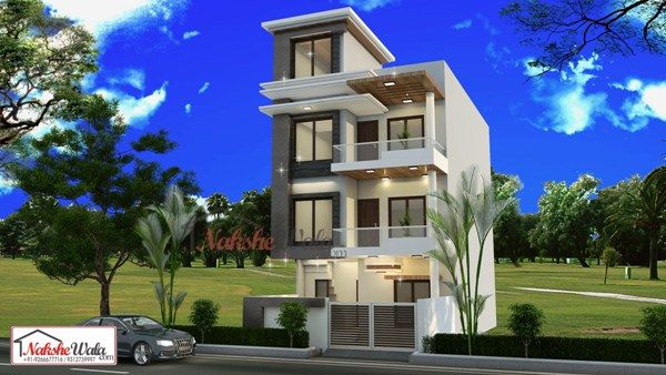 Front Elevation Of Multistoried Building : Multi storey residential buildings d front elevation