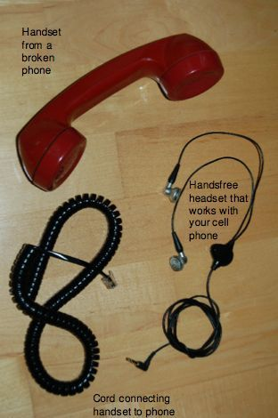 Adapting An Old Telephone Handset For Use On A Smartphone