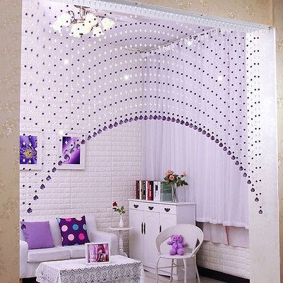 1 X Glass Crystal Beads Curtain Door Curtain For Passage Room