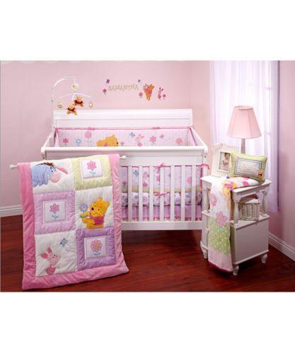 Disney Baby Winnie the Pooh Sweet as Hunny 3 piece Baby Girls Crib Bedding Set