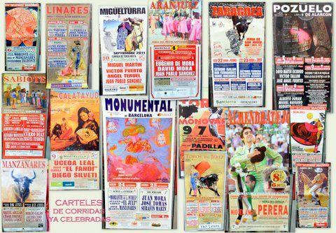 Colección de CARTELES de las corridas en cualquier plaza de toros y en cualquier época