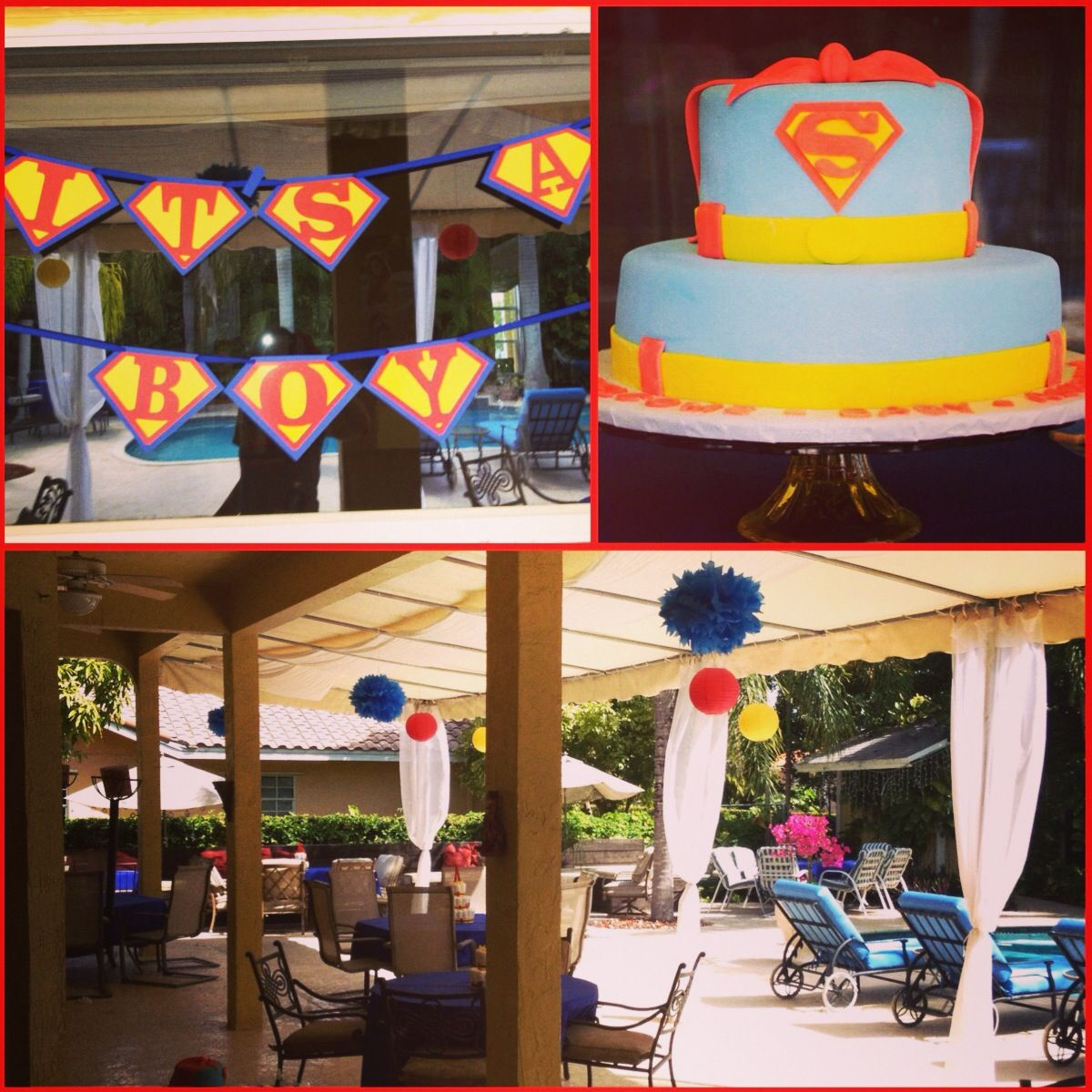 Charming Superman Baby Shower