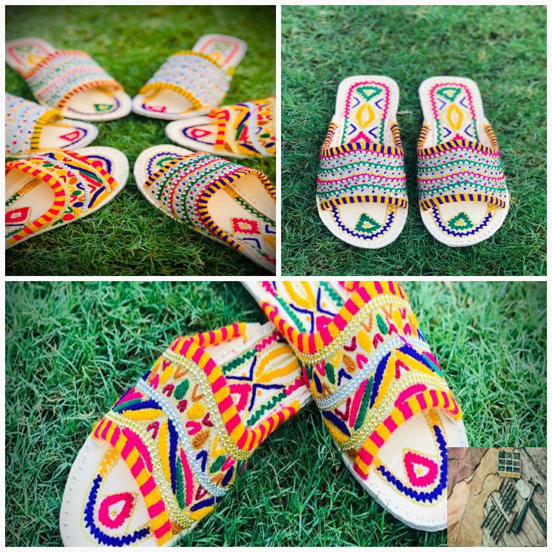 Women's crafted handmade leather punjabi jutti/ ladies leather tradional flip flop slipper #halloween #HandmadeShoes #HappyNewYear #WomenFlipFlop #jutti #wedding #WomenShoe #WeddingGifts #PunjabiJutti #LeatherShoes