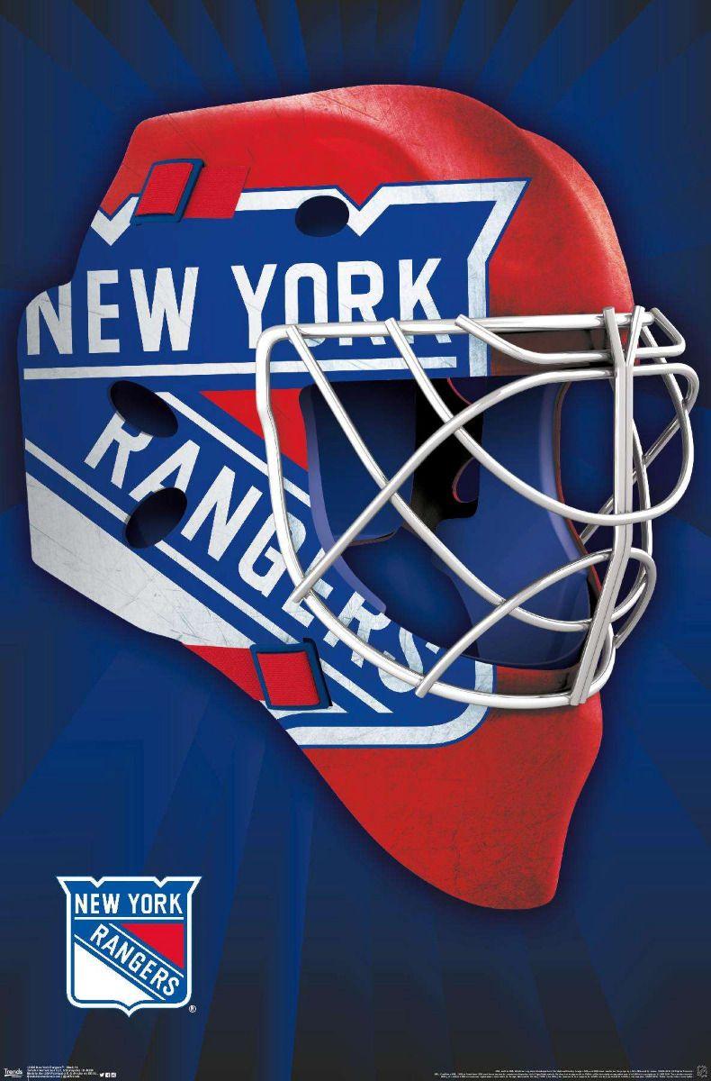 New York Rangers Mask New york rangers, New york