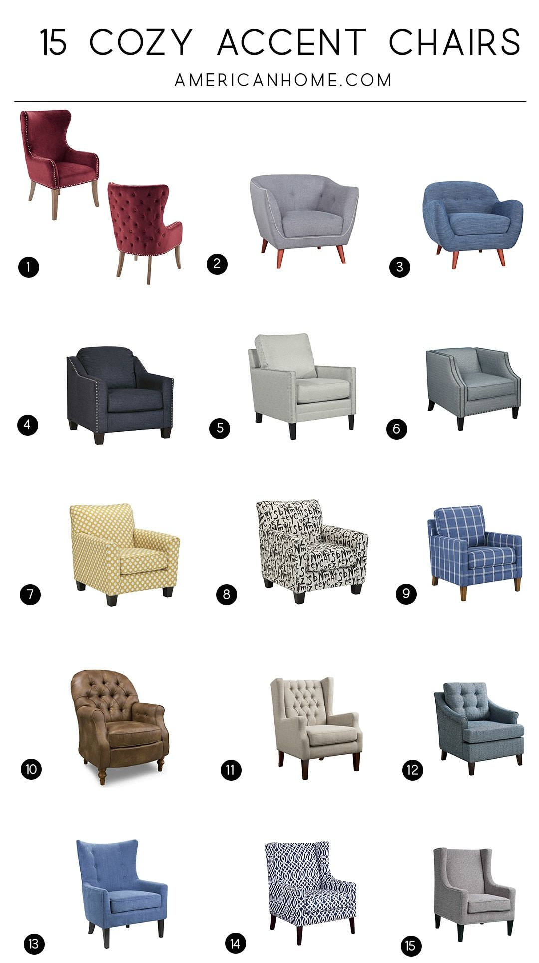 15 Cozy Accent Chairs Decoracao Poltrona Moveis