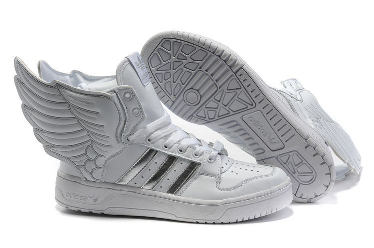low priced bc3b8 c10f3 Jeremy Scott Adidas Winged Sneakers White with Silver I will own them  someday!!!