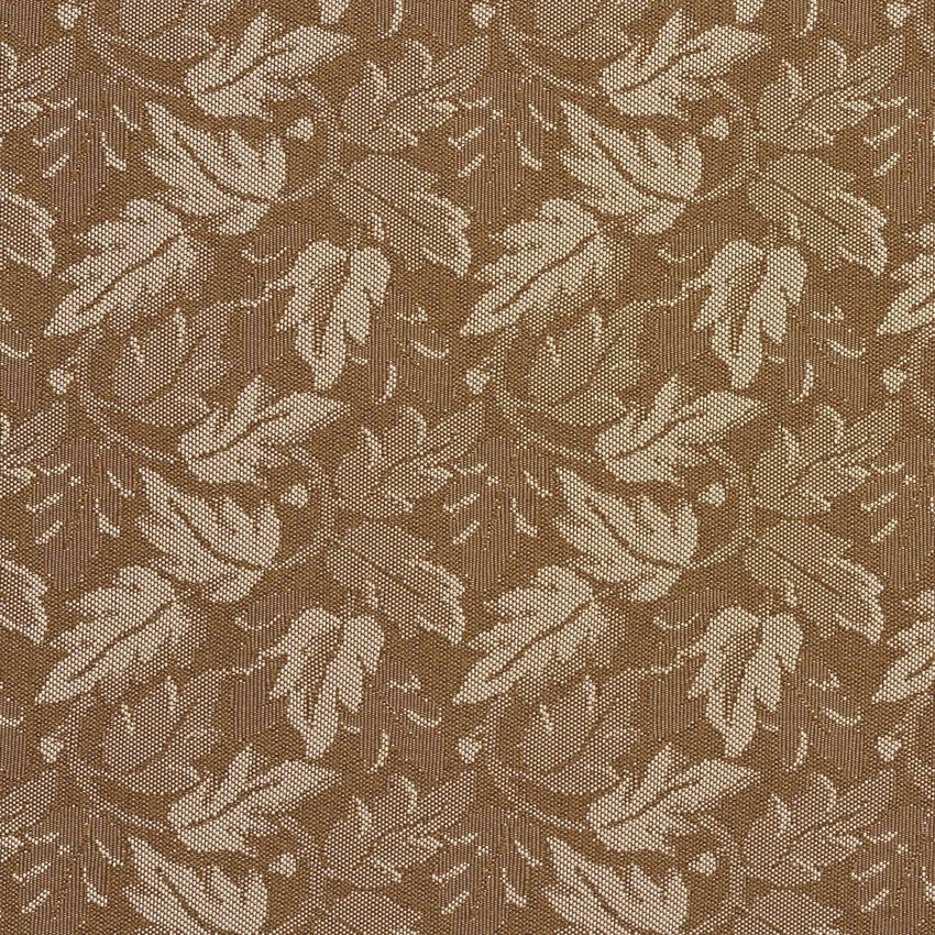 The K7815 ACORN/LEAF upholstery fabric by KOVI Fabrics features Foliage, Small Scale pattern and Beige or Tan or Taupe, Brown as its colors. It is a Crypton, Damask or Jacquard type of upholstery fabric and it is made of 59% polyester, 41% Olefin material. It is rated Exceeds 100,000 Double Rubs (Heavy Duty) which makes this upholstery fabric ideal for residential, commercial and hospitality upholstery projects.