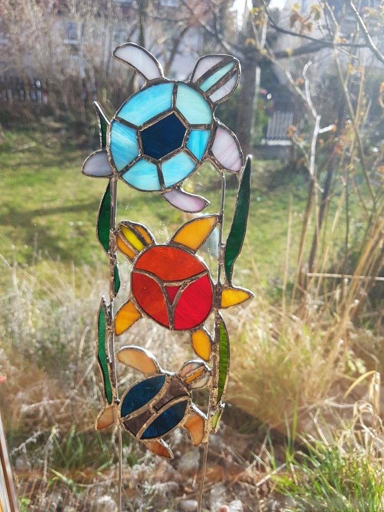 Tiffany Glasschildkröten für den Garten