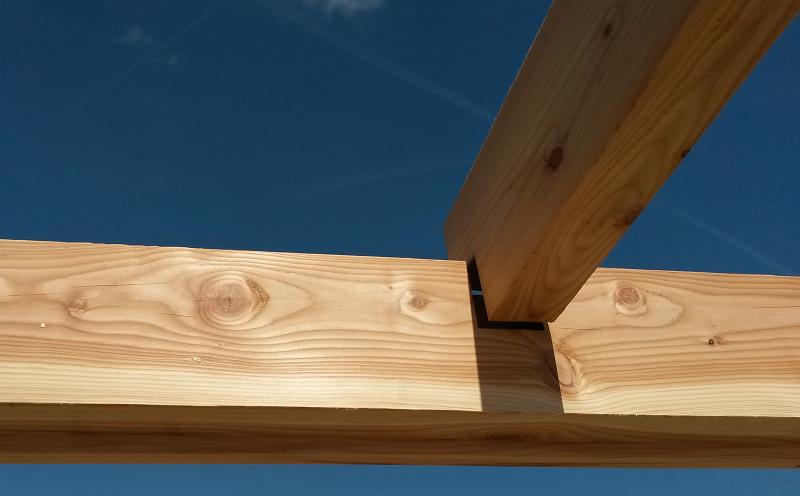 Houtverbinding balklaag veranda overkapping pinterest verandas - Hout pergola dekking ...