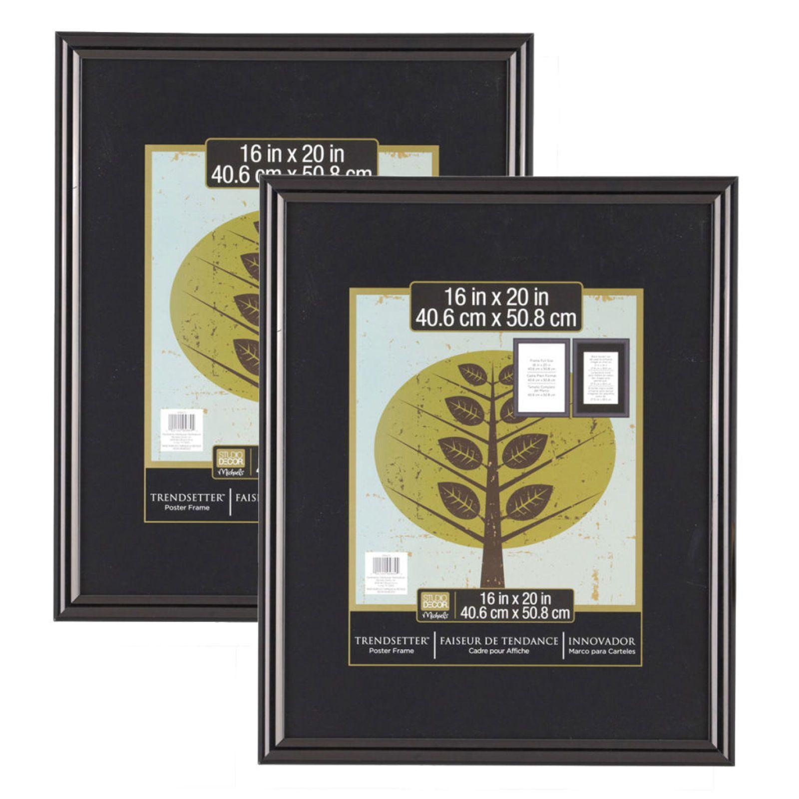 """2-Pack Studio Decor® Trendsetter™ Poster Frame, Black 16"""" X 20"""" $17.09"""