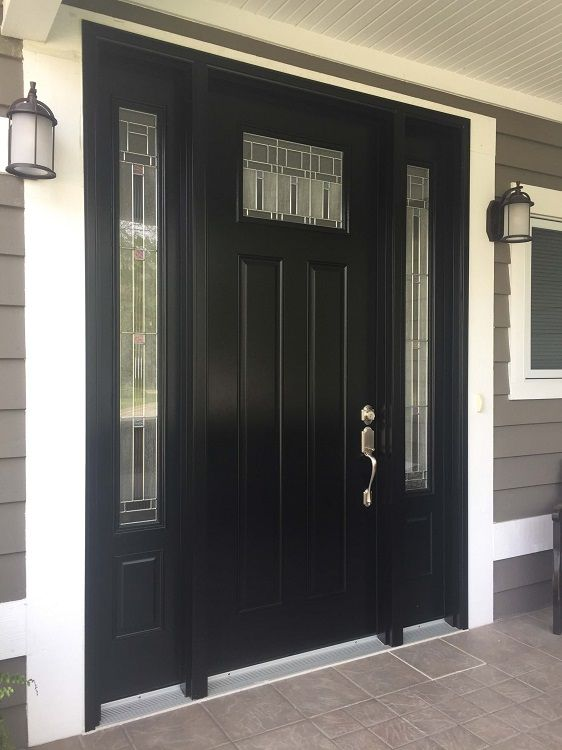 The homeowner of this 2005 Michigan City IN house wanted a new front door that & The homeowner of this 2005 Michigan City IN house wanted a new ...