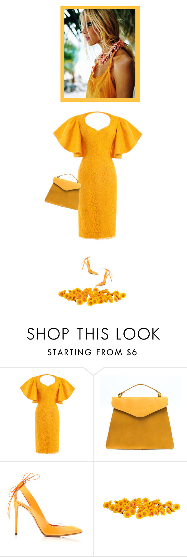 """""""warm color"""" by bodangela ❤ liked on Polyvore featuring Nicholas Kirkwood, women's clothing, women, female, woman, misses and juniors"""