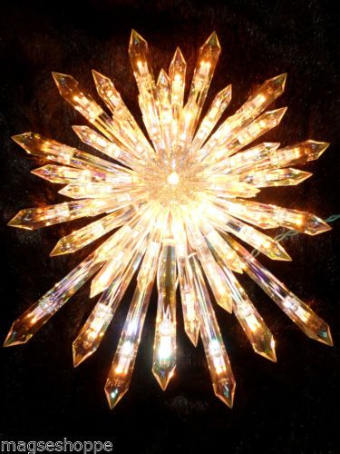 Tree Topper Lighted Christmas Tall Tree Star Crystal Gorgeous