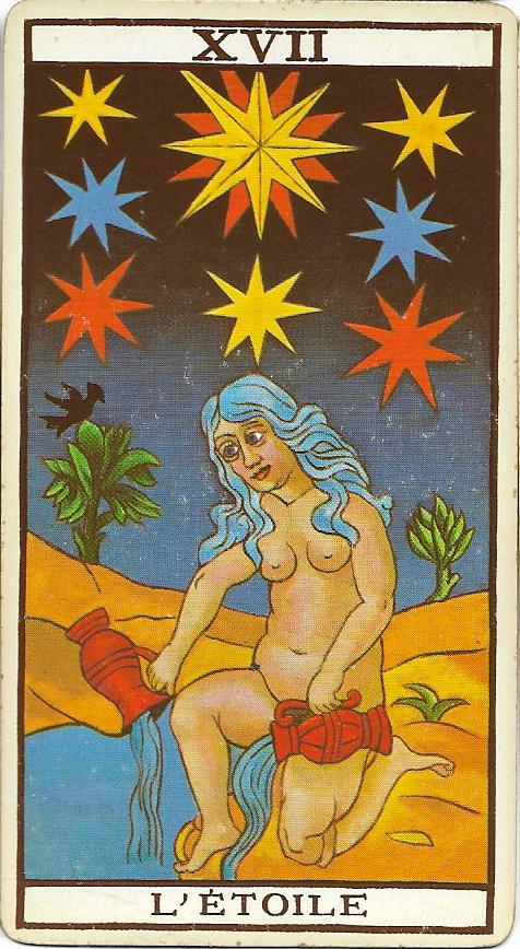 La Estrella Tarot Marsella Tarot Cartas Tarot