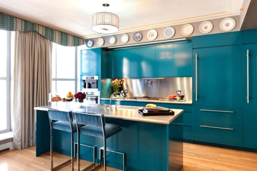 Teal Kitchen Cabinets Kitchen Cabinet Paint Colors 5 Teal ...