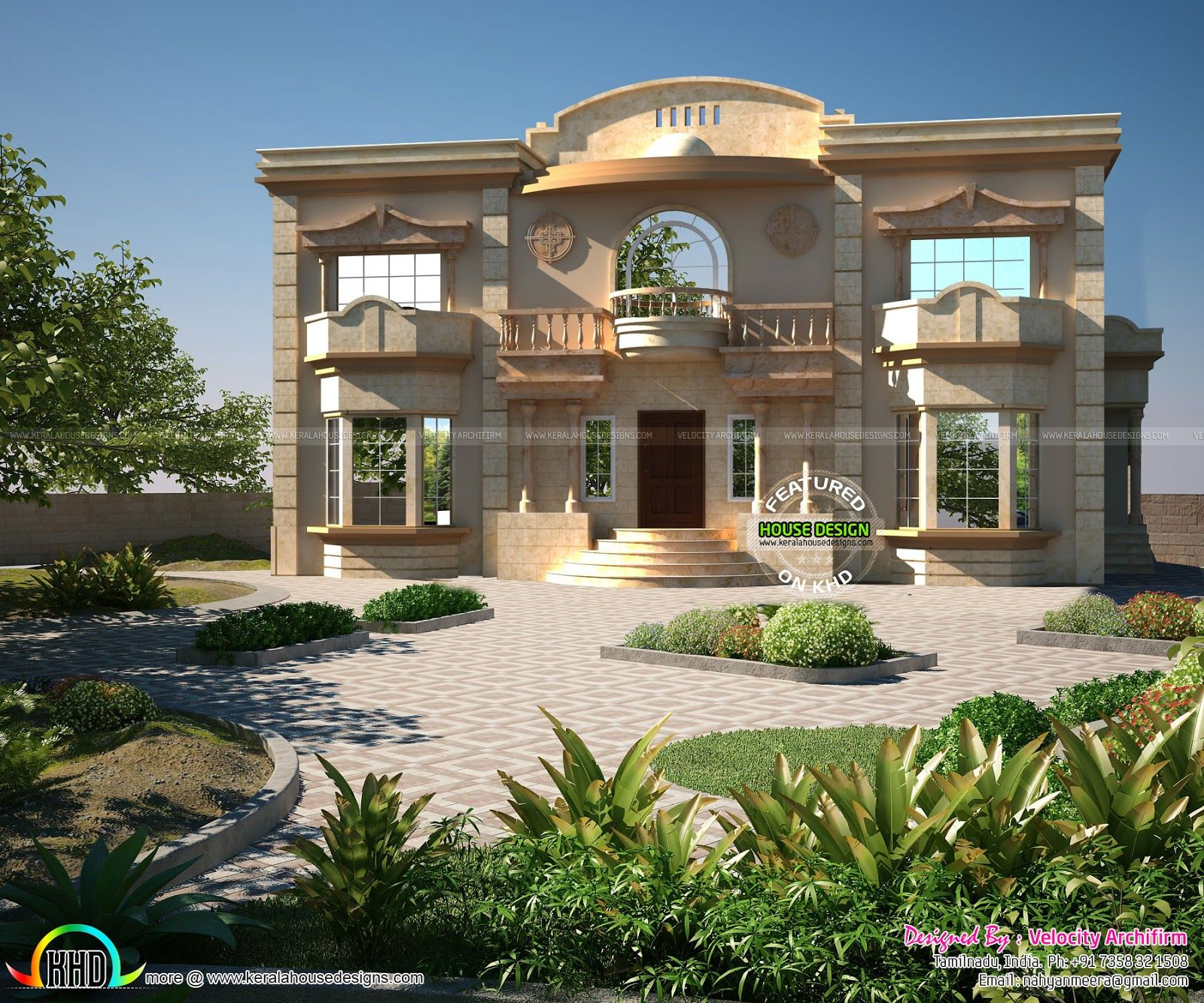 Image Result For Arabic Arch 3d Model Villa Style House House Design