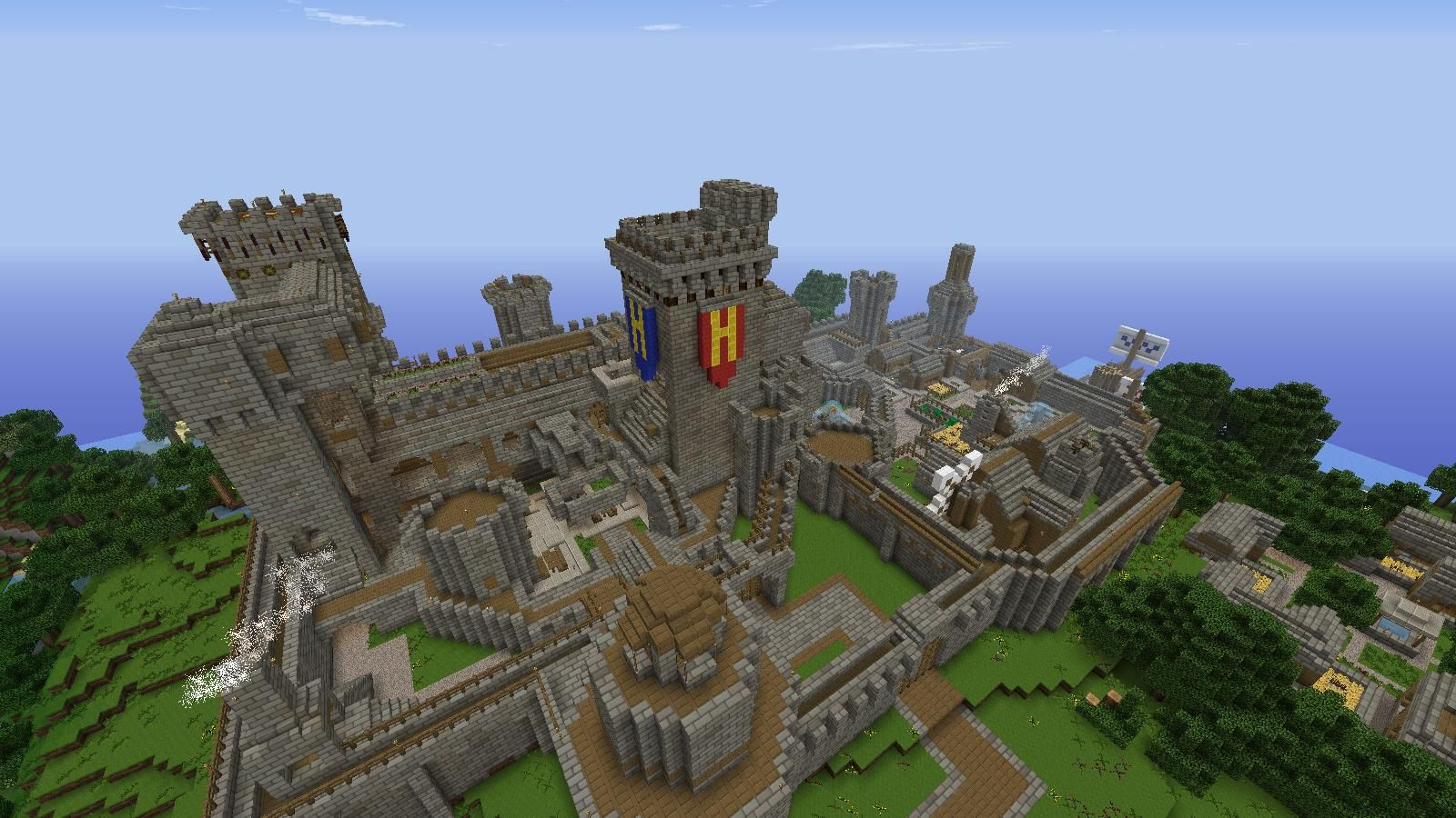 Minecraft castle buildings minecraft castle creations for How to build a castle home
