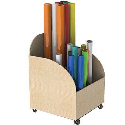 Merveilleux Mobile Art Paper Roll Storage Trolley