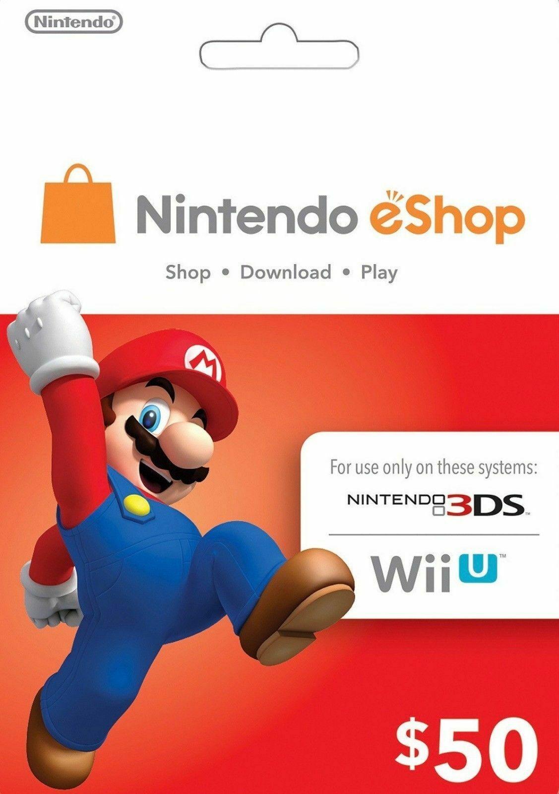 Nintendo Gift Cards gifts nintendo Nintendo