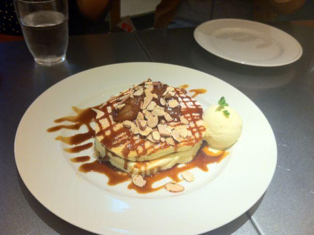 Dessert pancake at rainbow pancake,Harajuku,Tokyo.