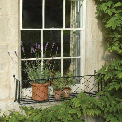 Window Boxes Metal Window Box Displays In 2019 Wrought