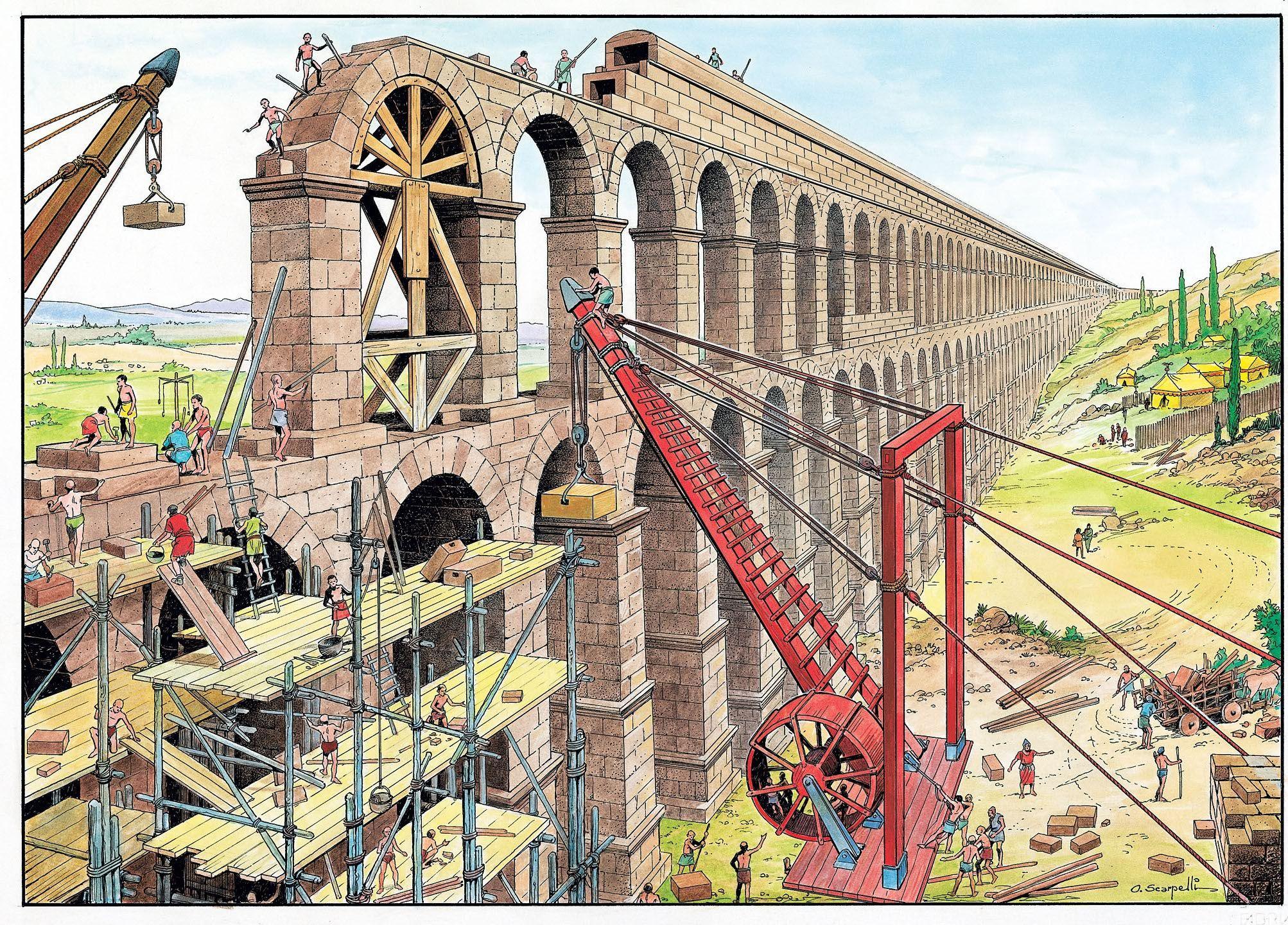 Construction of an aqueduct ~ O. Scarpelli