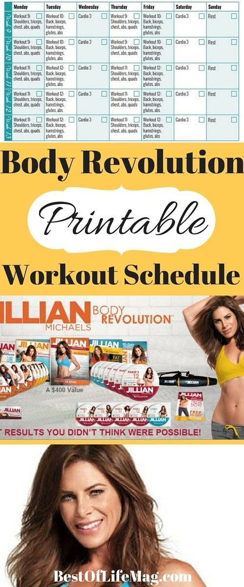 A workout schedule can keep you on track and increase your ...