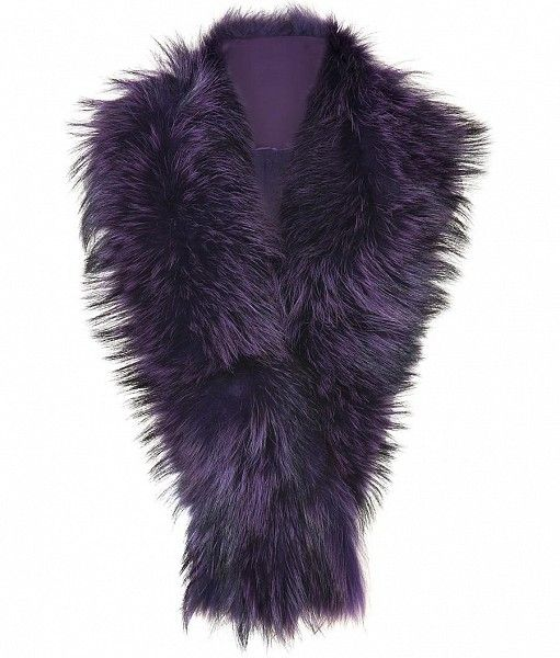 Winter Berry Boulder Fur Fringe Scarf by STEFFEN SCHRAUT