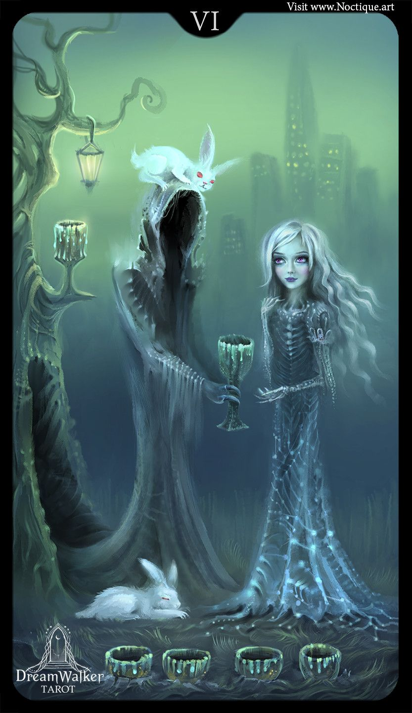Artstation five of cups cecilie noctique with images