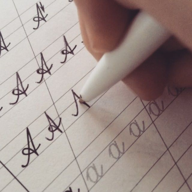 Working on my #russian cursive with russian step-by-step. #languagegeek #languagenerd #penmanship #languagehacking #languagelearning
