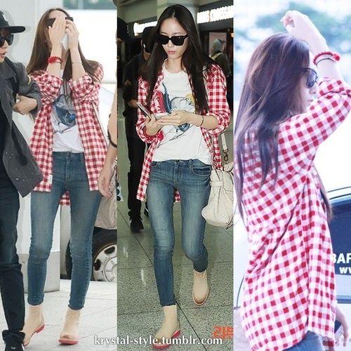Krystal Jung Chic Airport Fashion Jessica Krystal Jungsis Onstyle Pinterest Krystal Jung
